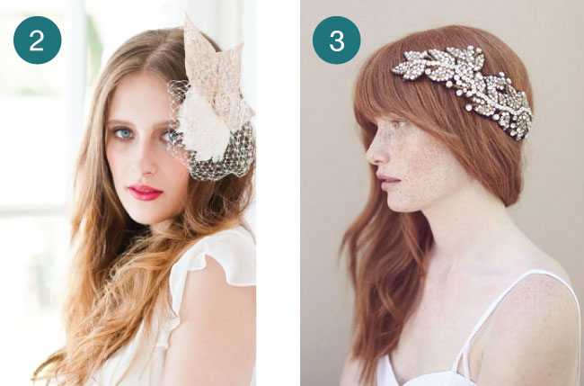 birdcage veil or crystal wedding hairpiece