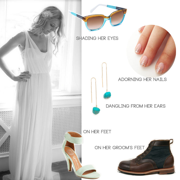 Accessorizing an Austin bride's indie wedding look