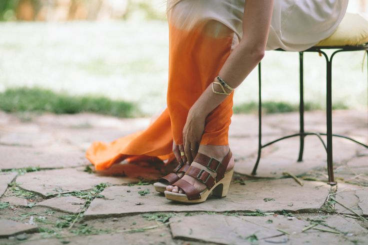 boho bride's shoes
