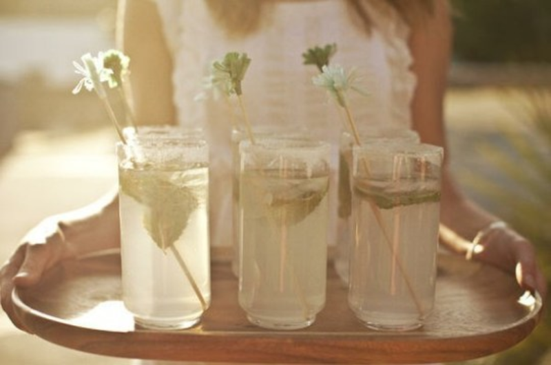 DIY drink stirrers barn wedding