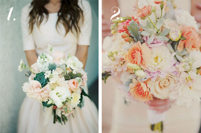 pretty wedding bouquet for bride, roses and peonies