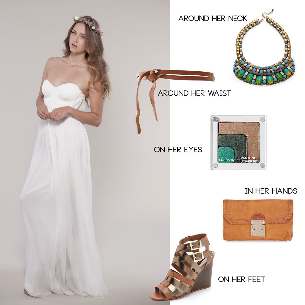safari wedding inspiration, bride's look