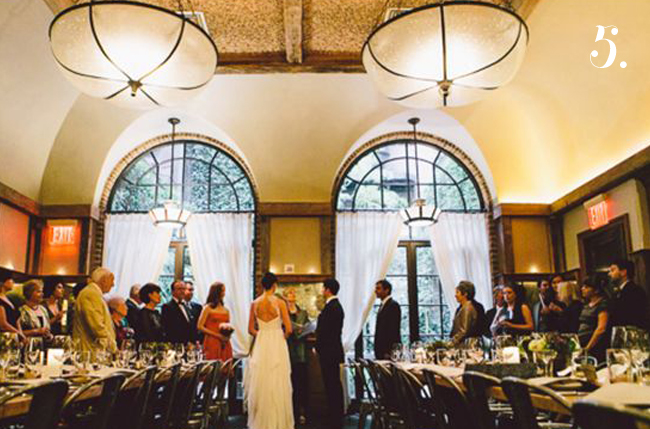 bride and groom married at locanda verde restaurant