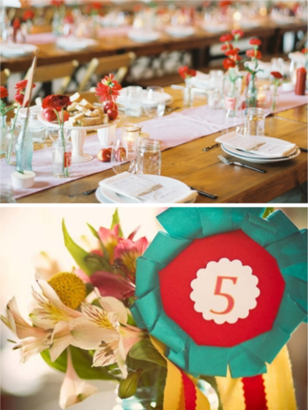 red poppy wedding decor