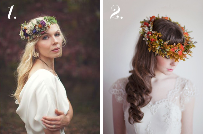 winifred bean fall floral crown