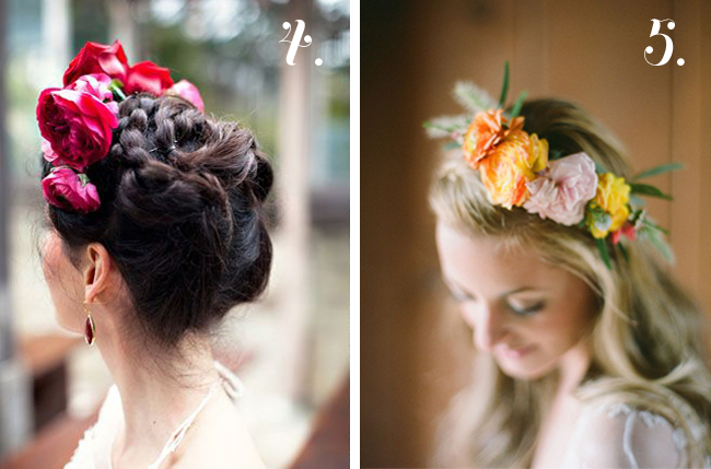 red and yellow floral crowns