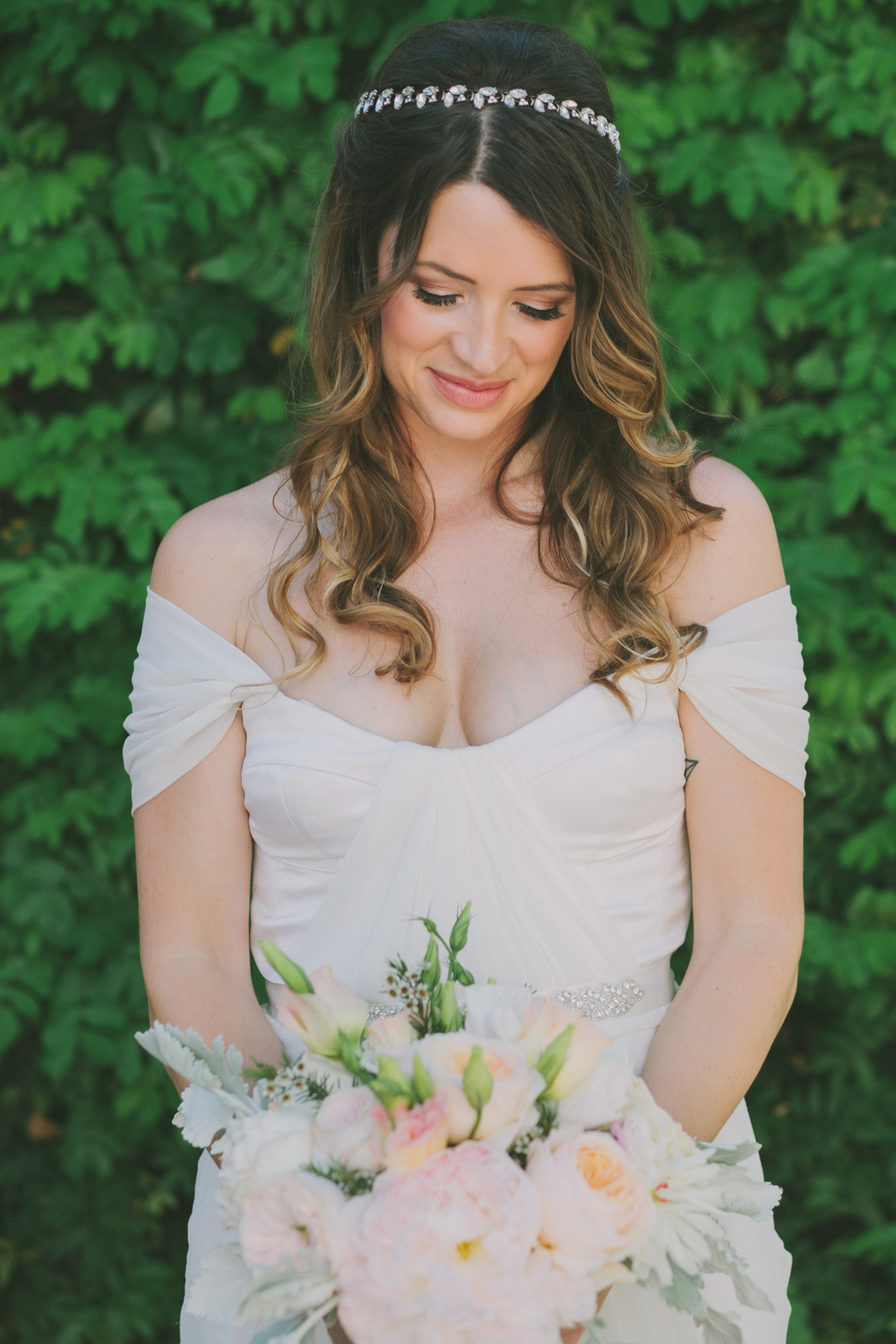 Real Winifred Bean bride Jenni wearing Tulipe vintage-inspired wedding dress