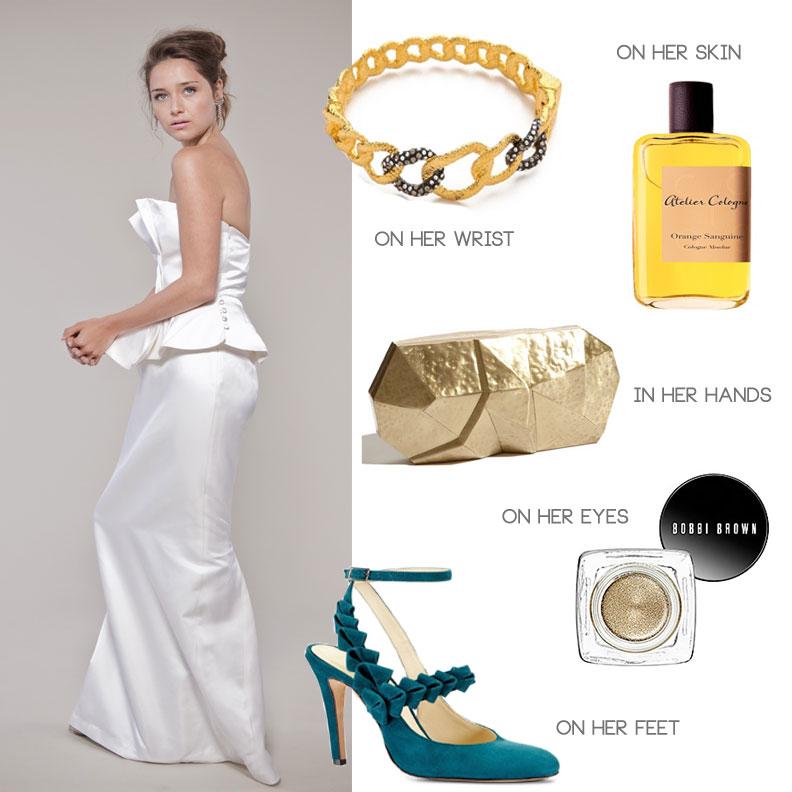 wedding in loft, industrial venue, bridal style including Winifred Bean Iris wedding dress