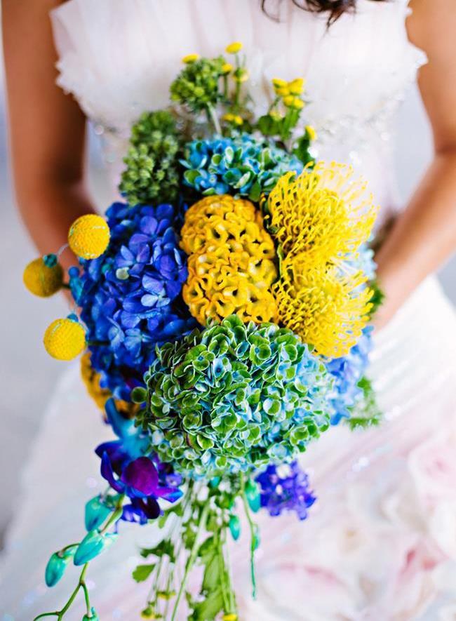 bride's neon bouquet