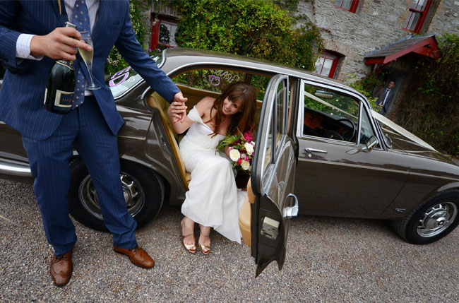 winifred bean tulipe gown, ireland wedding, real wedding