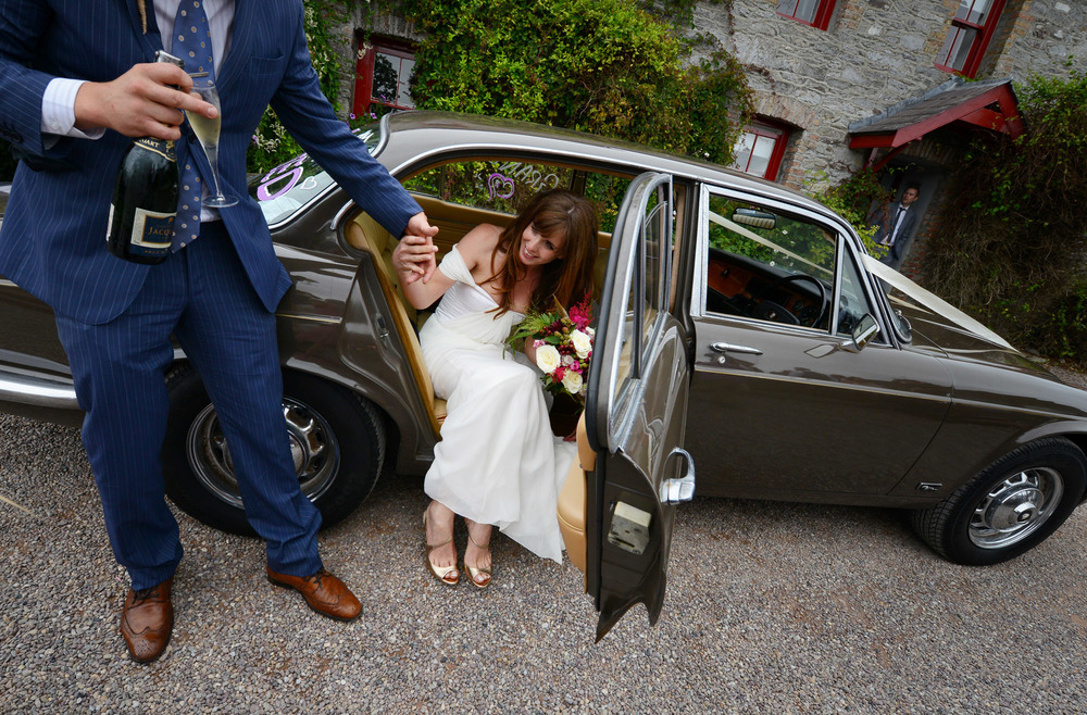 winifred bean real bride, tulipe gown, ireland wedding