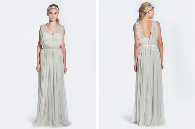 winifred bean daisy gown, grey bridal gown