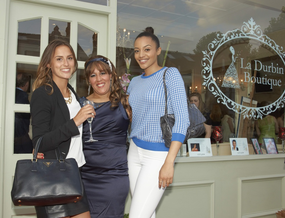Made in Chelsea's Lucy Watson and Model/Presenter Amal Fashanu with salon owner Latifa