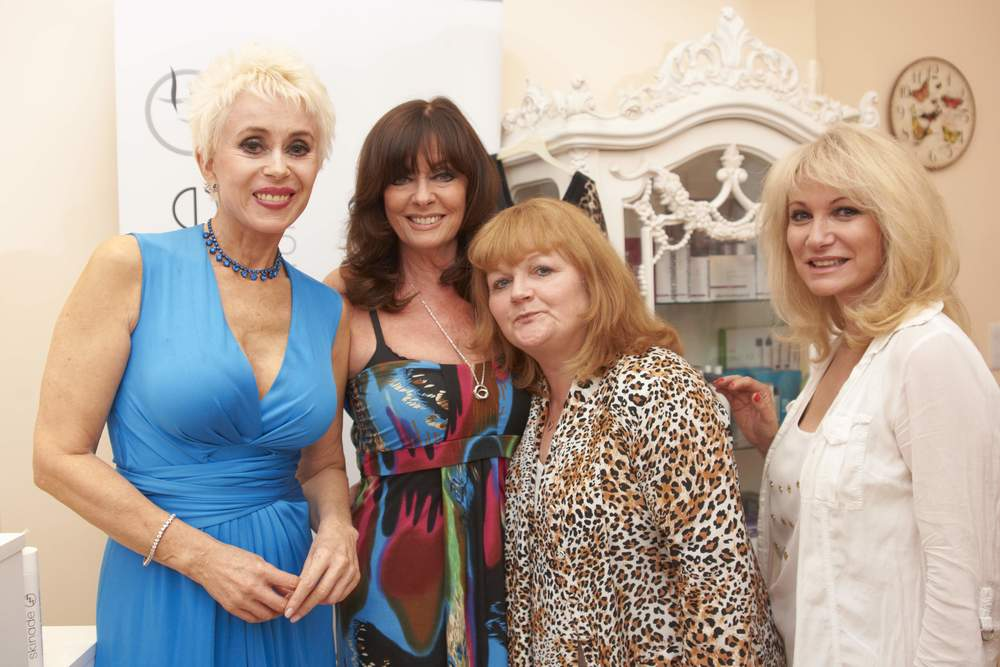 Actresses Sally Farmiloe-Neville, Vicky Michelle, Lesley Nichol and Debbie Arnold