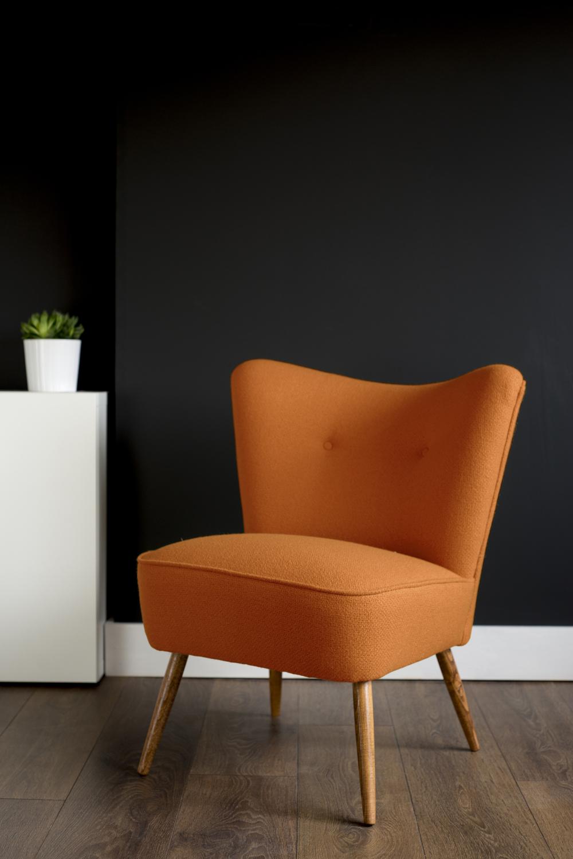 Florrie + Bill Bute Wool Cocktail Chair