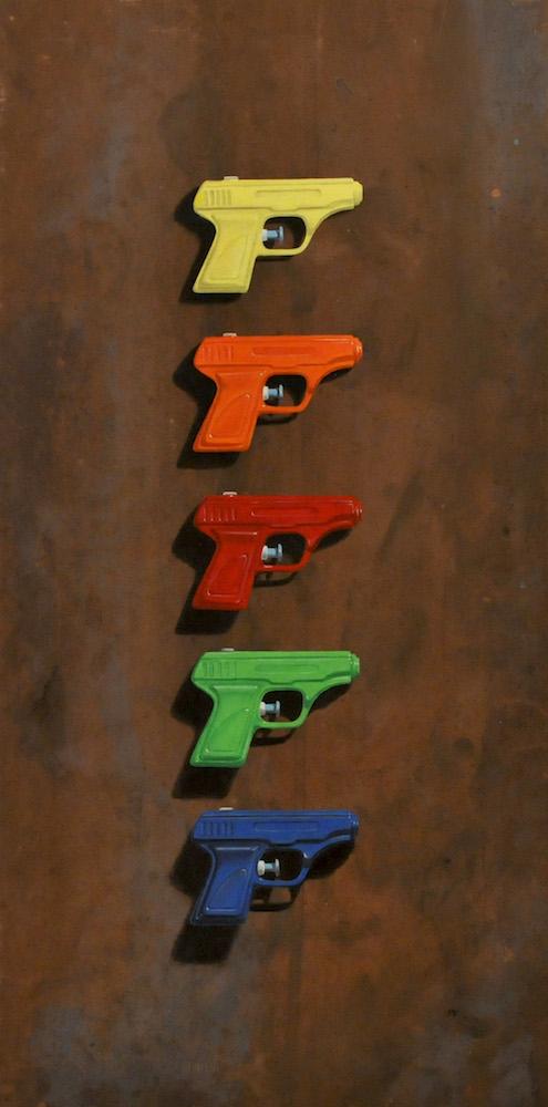 Five Water Pistols