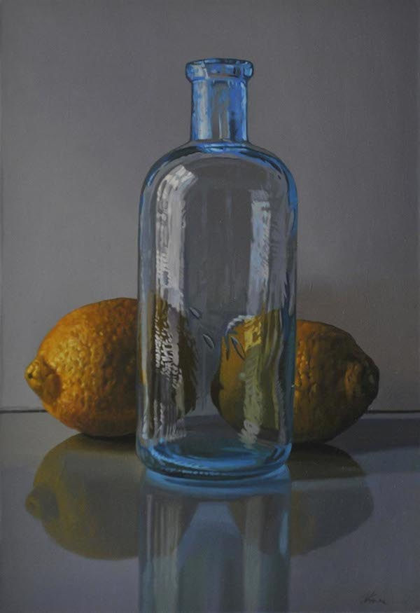 Lemons and Cerulean Bottle
