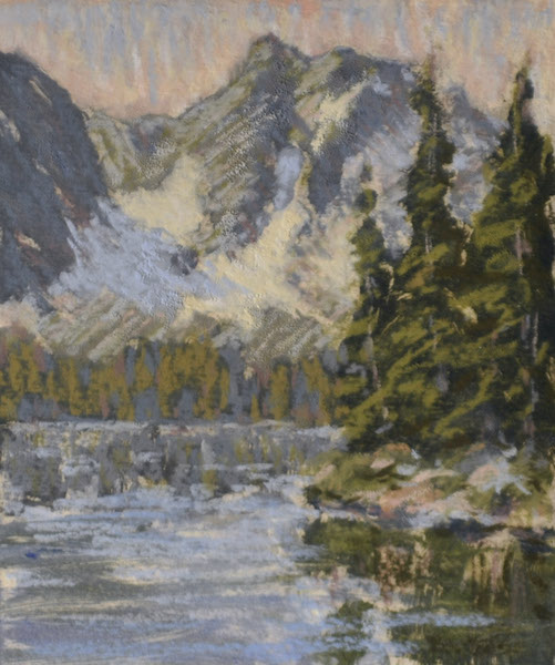 Lake in the Rockies, Pastel.jpg
