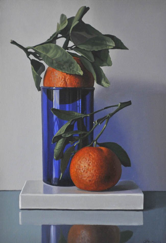 Oranges and Cobalt Glass