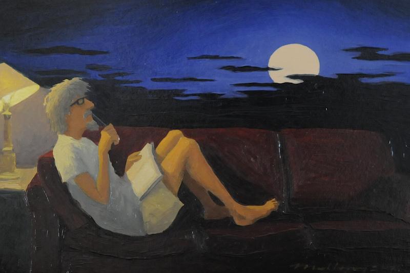 Sketchbook and Moonrise