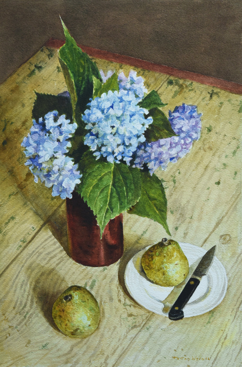Hydrangea and Pears