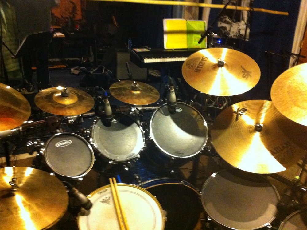 Pete has a lot of drum mics.