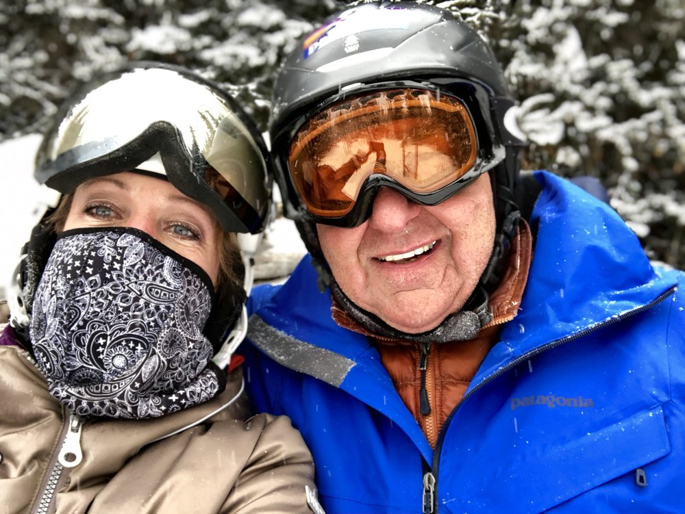 Dennis and I at Sunshine Village
