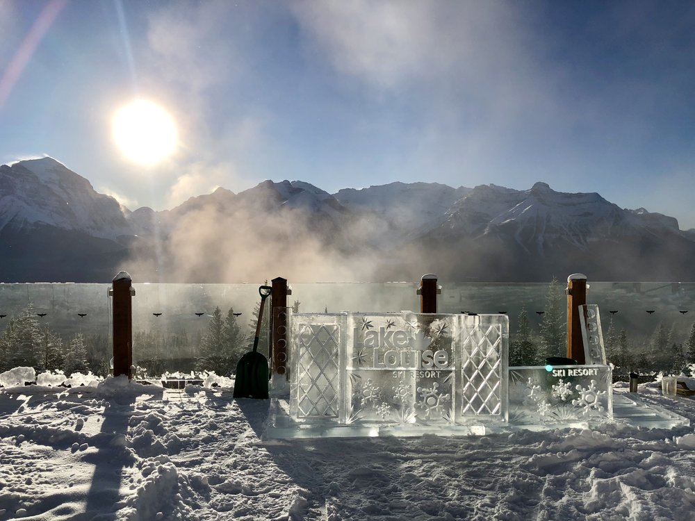 Lake Louise ice sculpture