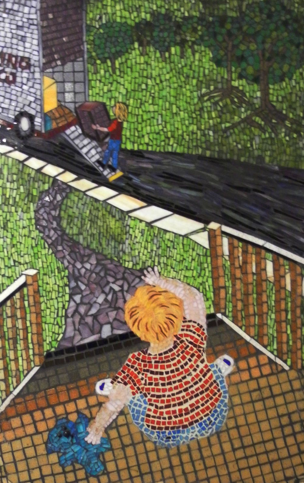 Mom's Leaving Home - Mosaic by Roslyn Zinner