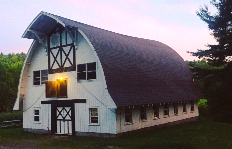 The barn that I worked in during July, built by Edna St. Vincent Millay
