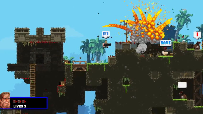 One of the Not So Frustrating Explosions - Broforce Review