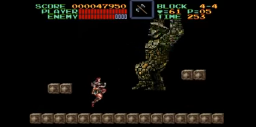 Super Castlevania IV - Mode 7 Boss