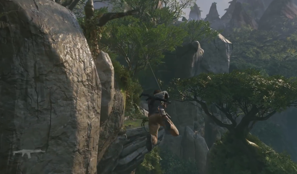 Uncharted 4 Rope Swinging