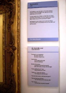 """My poem """"Mo Ghaol"""" (My Love) at the McTaggart exhibit in Scotland (Summer 2011)."""