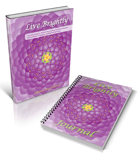 Live Brightly Book & Journal, Gift Set Journal has 100-blank pages, coil spiral spine, and is individually shrink-wrapped. Book is softcover, individually shrink-wrapped. For more information on Live Brightly and reviews please go here.