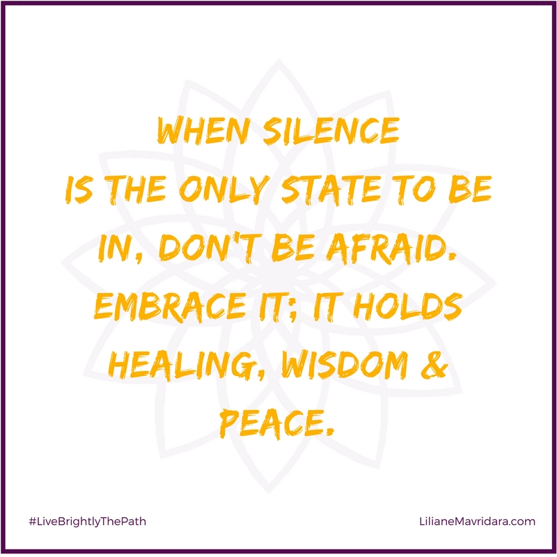 Don't Be Afraid Of Silence