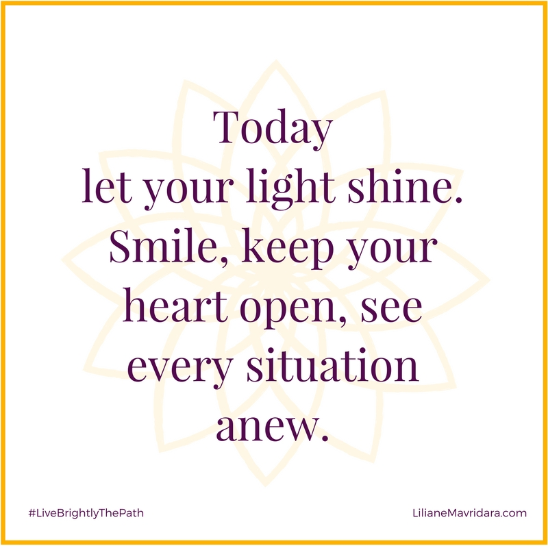 Today Let Your Light Shine