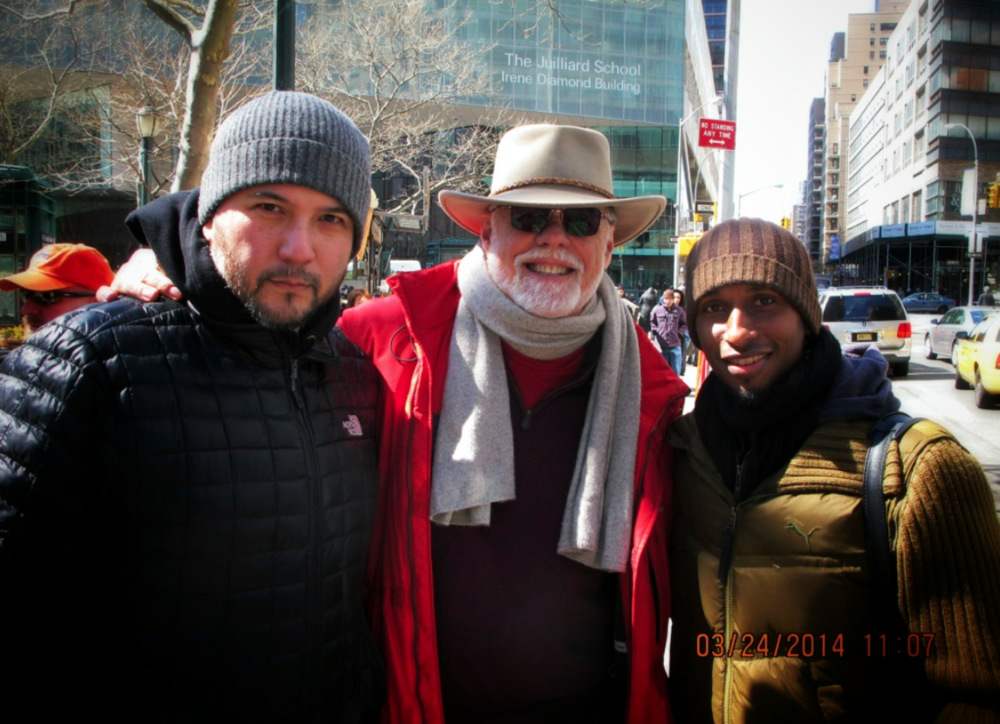 On set in NYC with Taylor Hackford while I was shooting a 2nd unit for him on a pilot for ABC. Oh look! There's Brian!