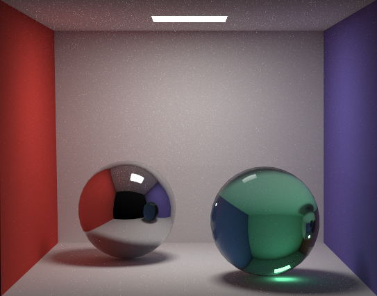 Monte Carlo path tracing with ~15000 passes