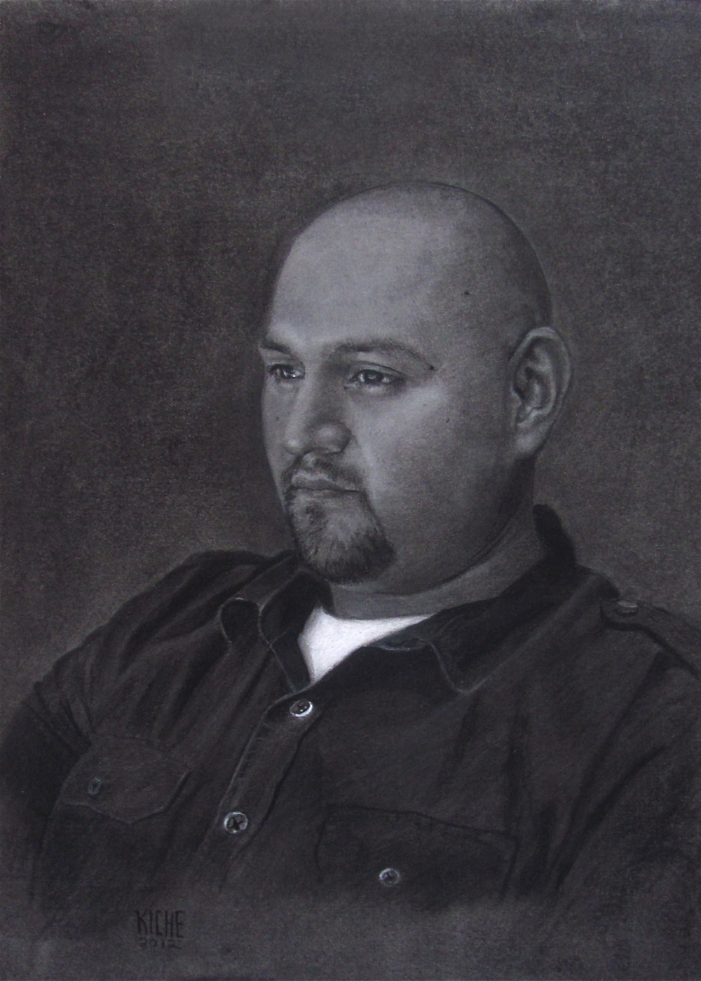 The Voulunteer  Charcoal on Paper   14 x 17