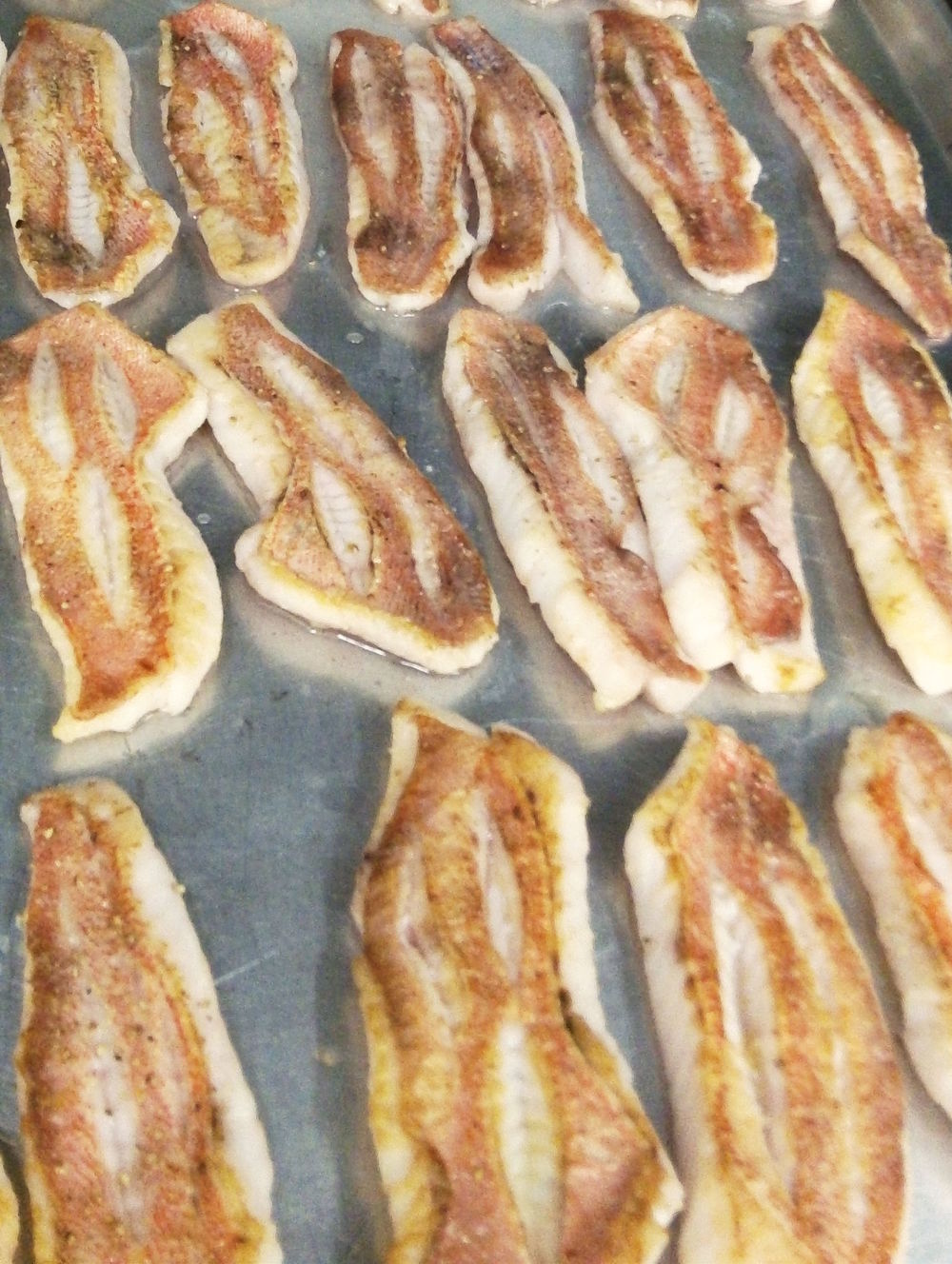 Arcadian redfish fillets just out of the oven