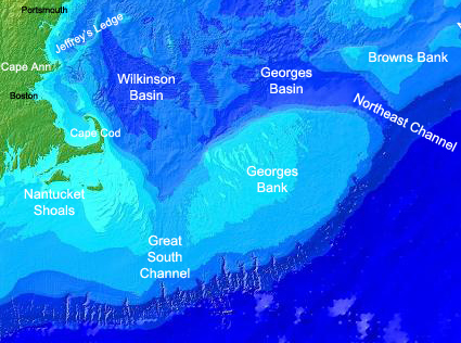 Map of Georges Bank. Credit: NOAA