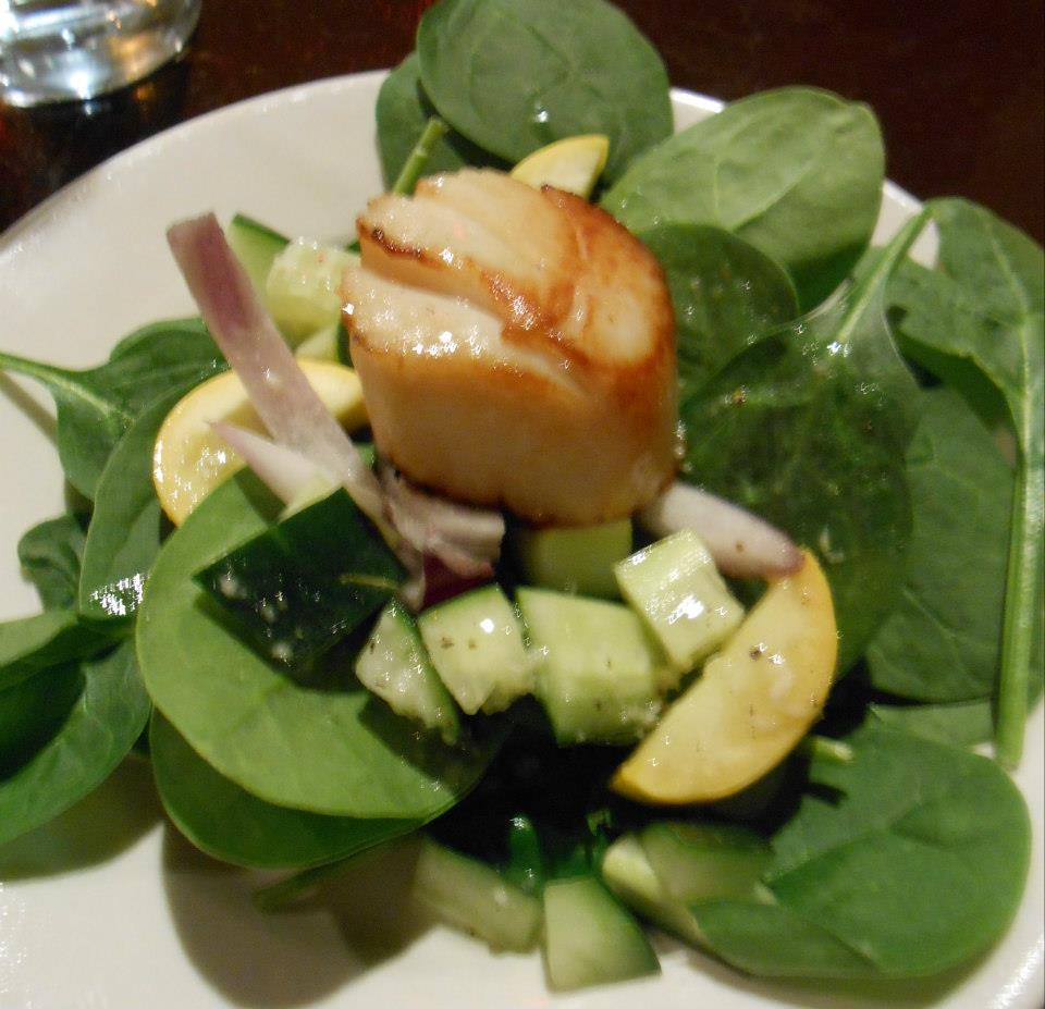 Sea scallop salad.