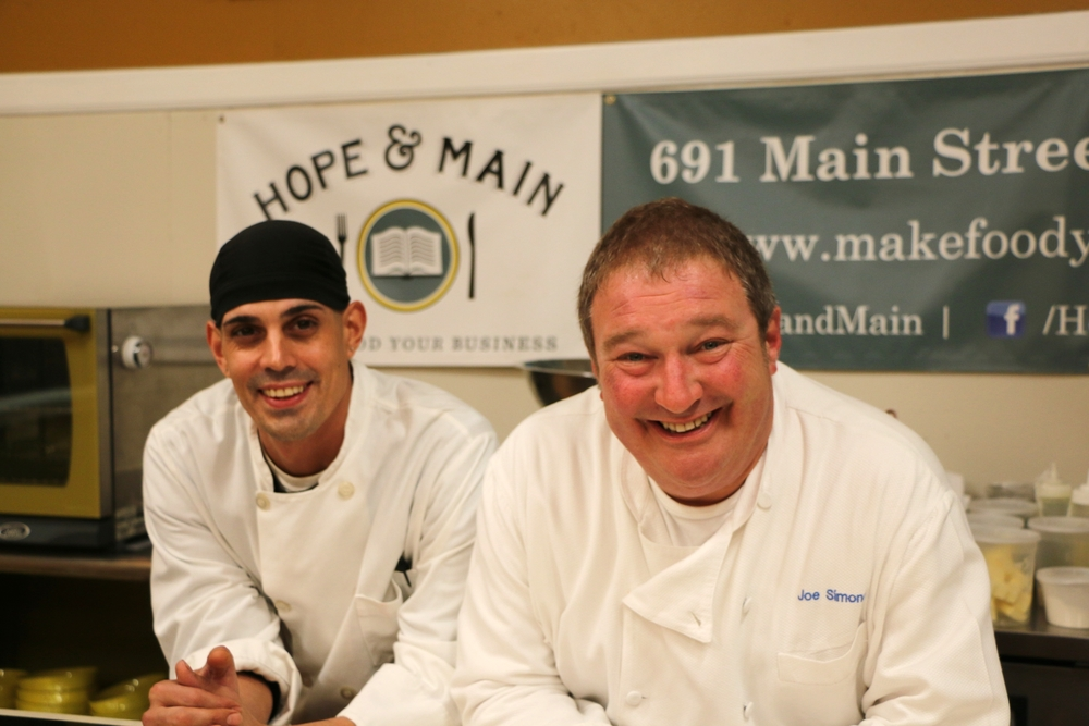 Sous Chef Antonio Aquiar and Chef Joe Simone