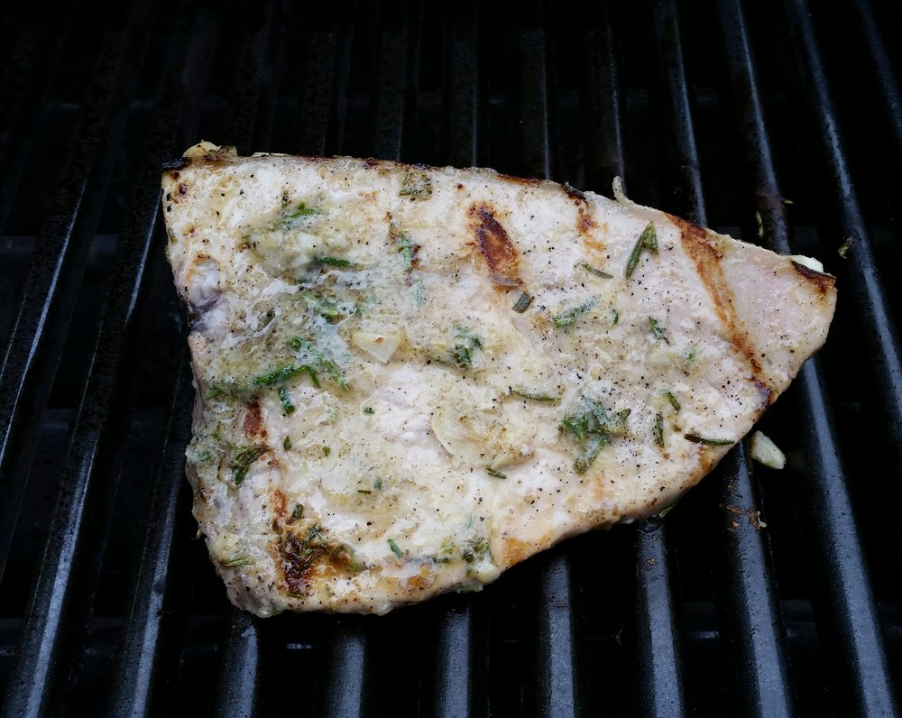 Grilled Rosemary Swordfish - Spectacular!