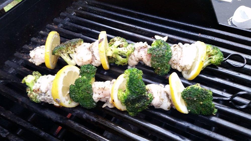 Grilled Goosefish (Monkfish)