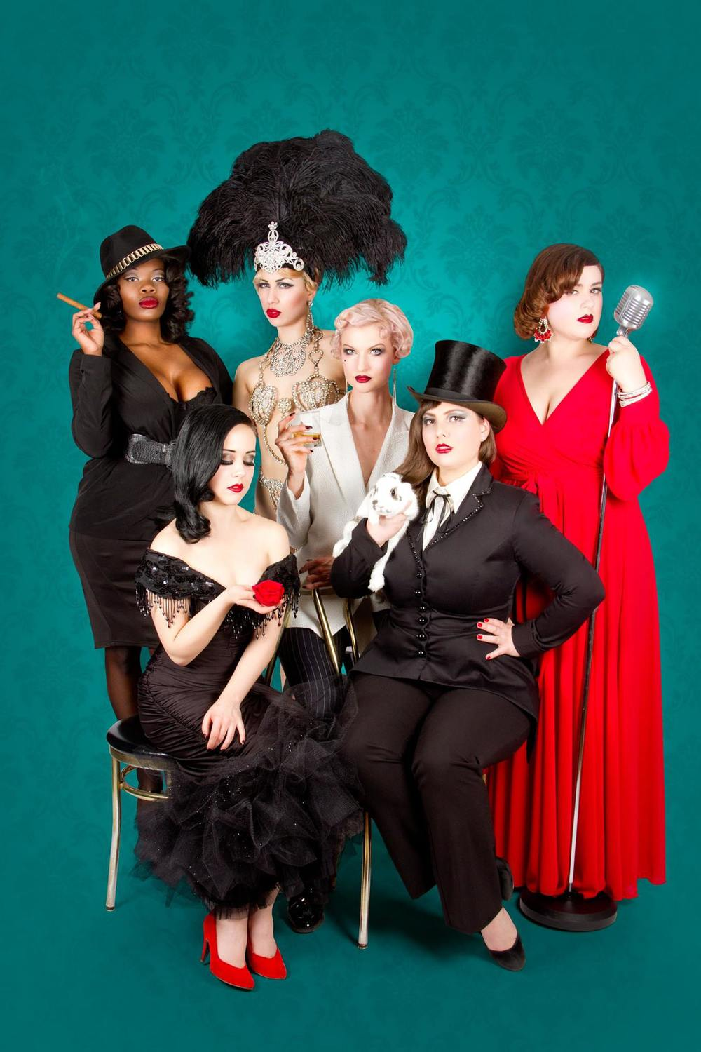 Cabaret Capone 2015, Burlesque Gangsters, Photo by  Frank Lam