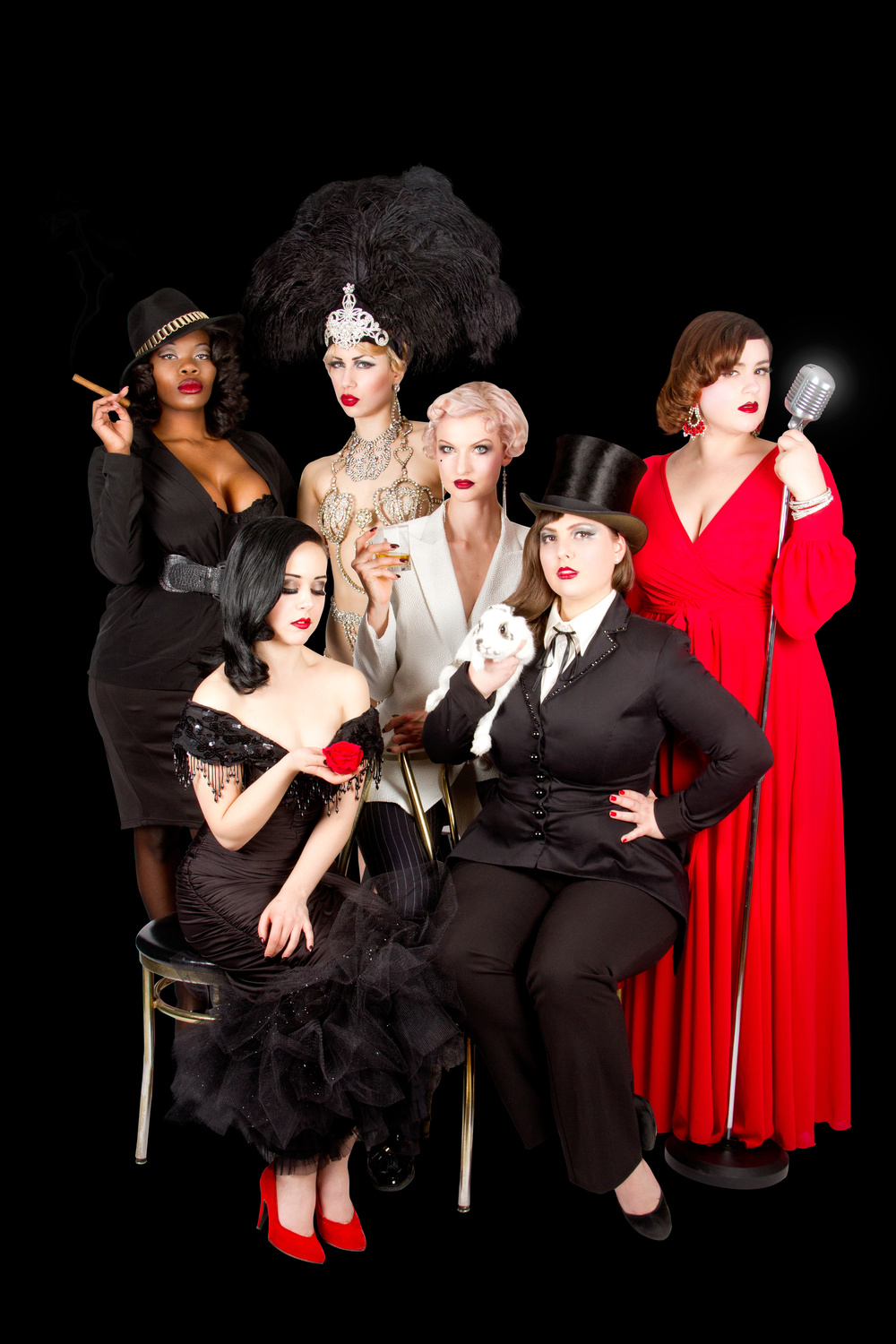 La troupe Cabaret Capone, Photo par Frank Lam