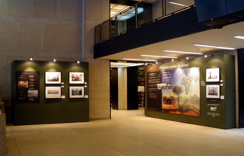 Dafur: Photojournalists Respond, on display at the Boston Library.