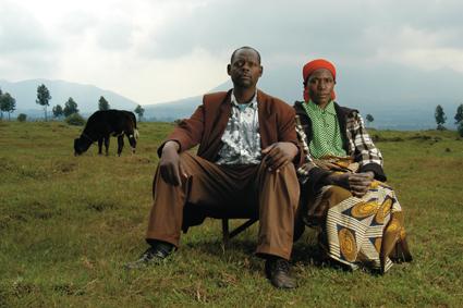 Rwandan rescuer Enoch Rwandbruindi and his wife. Photo: Riccardo Gangale.